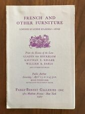 French and Other Furniture Limoges Parke Bernet Auction Catalog April 15 1967