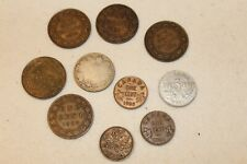 Lot Vintage 10 Canada Coins ~ One Five Cent 1 5 25 1908 1916 1918 1919 1921 1928