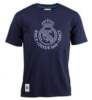 Camiseta oficial Real Madrid Azul Marino Armas adulto Original algodón 2018 2019