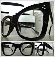Men Women CLASSIC VINTAGE RETRO Style Clear Lens EYE GLASSES Black Fashion Frame