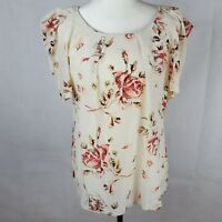 Forever New Top Size 16 Floral Print 100% Silk