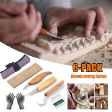 Wood Carving Knives Set Woodworking Tools Spoon Kit Whittling Carpenter Gifts