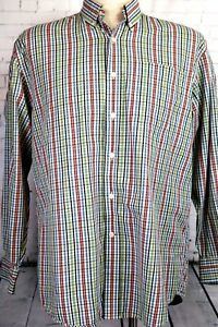 Cutter & Buck Men's Large, long sleeve shirt textured plaid, Very Nice Shirt