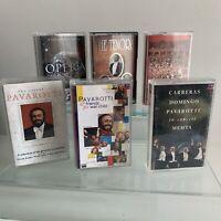 Luciano Pavarotti & Three Tenors Cassette Tape Bundle X 6 Job lot Good Cond
