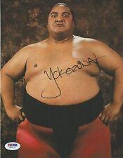 Yokozuna Signed WWE 8x10 Photo PSA/DNA COA WWF Picture Autograph Pro Wrestling