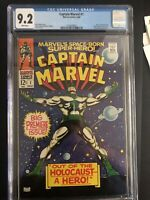 CAPTAIN MARVEL #1 Marvel Comics 1968 Comic Book CGC 9.2