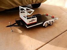 Retro 1-2-3 1:10 Scale Offenhauser Checker Flag Midget Racer Trailer TETHER CAR