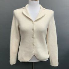 Ann Taylor Women's Cardigan Sweater Size Petite Small Ivory Angora Blend