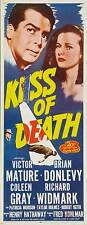 THE KISS OF DEATH Movie POSTER 14x36 Insert B Victor Mature Brian Donlevy Coleen