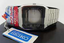 SUPER RARE VINTAGE NOS SEIKO H357-505A LCD DIGITAL WATCH 80s BOND STYLE OVERSIZE