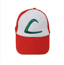Anime Pokemon ASH KETCHUM trainer costume cosplay Hat Cap CCC