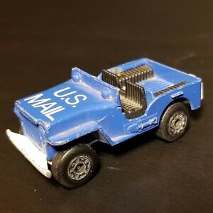 1976 Matchbox Superfast #2 Sleet & Snow Blue Post Office U.S. Mail Delivery Jeep