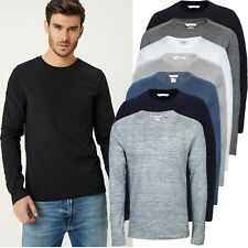 Mens New Easy Long Sleeve T-Shirt Full Causal Summer Fit Soft Cotton Top Blouse