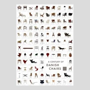 A Century of Danish Chairs Poster 100cm x 70cm