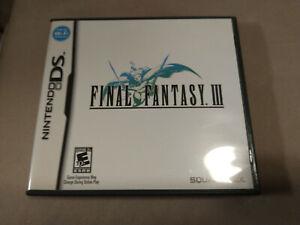 Final Fantasy III 3 (Nintendo DS, 2006) Complete Game RPG