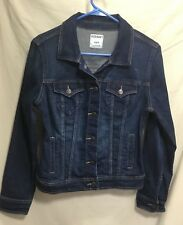 WOMEN'S SIZE M STRETCH DENIM DISTRESSED JEAN JACKET BY OLD NAVY #900