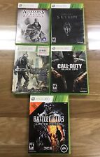 XBOX 360 Games  - Assassins Creed- Skyrim - Crysis 2 - Call of Duty Battlefield