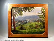 Gemälde WILLI BENZ Gernsbach Baden-Baden Ölbild Schloß Eberstein Schwarzwald