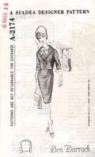 Spadea Designer Pattern A-2174 Vintage Sewing Pattern Barrack Coat Jacket 1960s