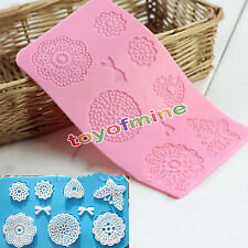 New Silicone Lace Mat Butterfly Fondant Sugar Mould Cake Decorating Mold Tool