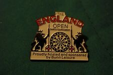 100 NEW darts pin for the ENGLAND OPEN  pin badge trade price