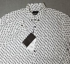 ZARA MAN Slim Fit Men's Size XL-44 Print Long Sleeve Button Front Shirt