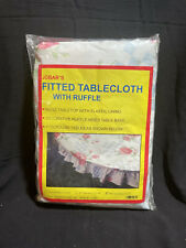 """Jobar's Fitted Tablecloth With Ruffle - 48"""" Diameter"""