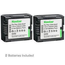 Kastar 2 Battery for Panasonic CGR-DU06 CGR-DU07 VDR-D230 VDR-D210 Camcorder