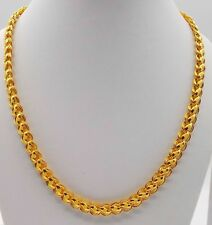 22 K CARAT YELLOW GOLD DUBAI DESIGN CHAIN LOTUS CHAIN UNISEX JEWELRY BOY GIRLS
