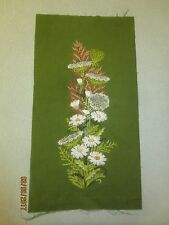 "Unused QUEEN ANNE'S LACE FLOWER CASCADE Crewel Embroidery - Design 8"" x 21"""