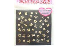 50 Stickers décor doré pour ongles naturels ou en gel - nail art
