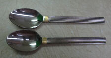 set of 2 Towle Gold Intervale 2 Oval Soup Spoons 7 1/2""