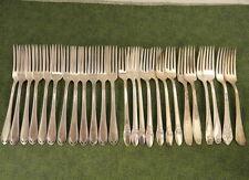 Craft 25 Deco Floral Dinner Forks Lot F Vintage Flatware Silverplate Silverware