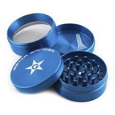 GStar 2.25 Inch 4 Pieces Aluminum Tobacco Spice Herb Grinder-Blue