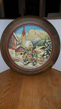 Vintage 1971 Anri Christmas in St. Jakob in Groden Collector Plate Plaque