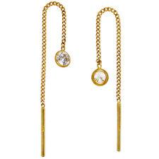 Durchzieh-Ohrhänger 333 Gold Gelbgold 2 Zirkonia Ohrringe zum Durchziehen