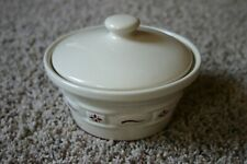 Longaberger Woven Traditions Traditional Red Original Candy Dish w/Lid