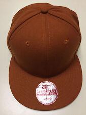 New Era 'BLANK SNAPBACK' Burnt Orange Adjustable Hat