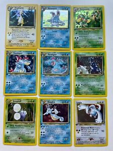 Pokemon Neo-genisis complete set 111/111 cards  83/111 1st addition