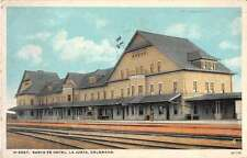 La Junta Colorado Santa Fe Hotel Antique Postcard J54770