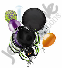 7 pc Dangle Legs Spider Halloween Balloon Bouquet Party Decoration Scary