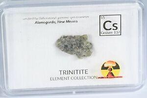Alamogordo atomsite glass TRINITITE analyzed sample / rare / element collection