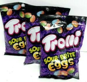 Trolli Sour Brite Eggs Gummi Candy 4.25oz Bags 3-pack