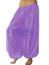 Medium Purple | Satin Harem Yoga Trouser Belly Dance Pant Pantalons | 27 Color