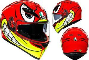 AGV K-3 Sv 5 Birdy Motorcycle Helmet Crash Sport Racing One-Off Design