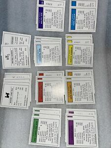 1985 Monopoly 1935 Commemorative Edition Board Game Replacement Properties Cards