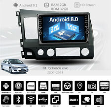 9'' MP5 Player Touch Screen Bluetooth Radio USB FM GPS TV TPMS For Honda Civic