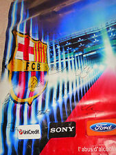 Affiche 120x180 Final Supecup 2011 Porto Barça fcb signed All Team FC BARCELONA