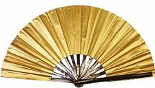 Left and Right hand set, Tai Chi, or belly dancing, Gold performance fan.