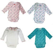 Mini Boden Baby GIRLS FLORAL Bodysuit Romper BABYGROW SLEEPSUIT Long Sleeve Top